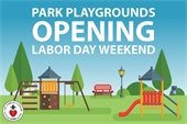 Park Playgrounds Opening Graphic