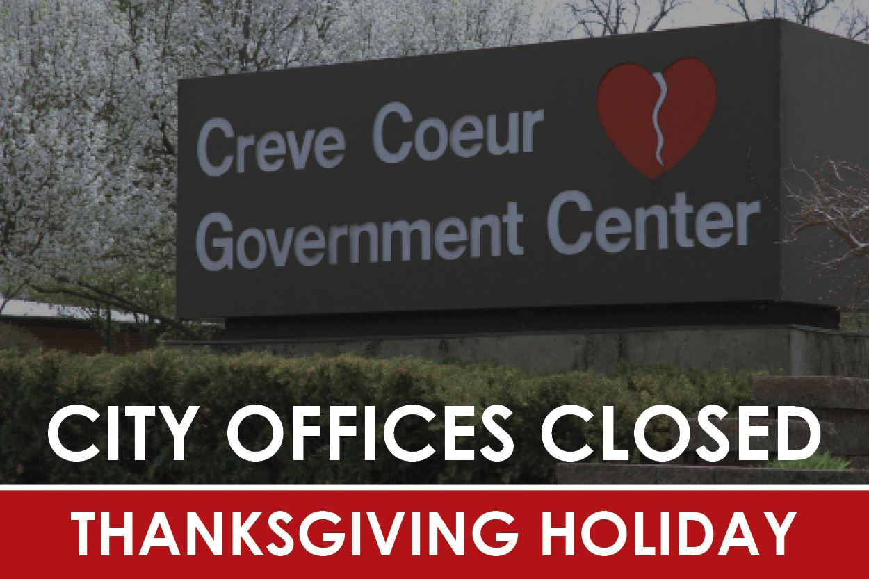 City Offices Closed Thanksgiving