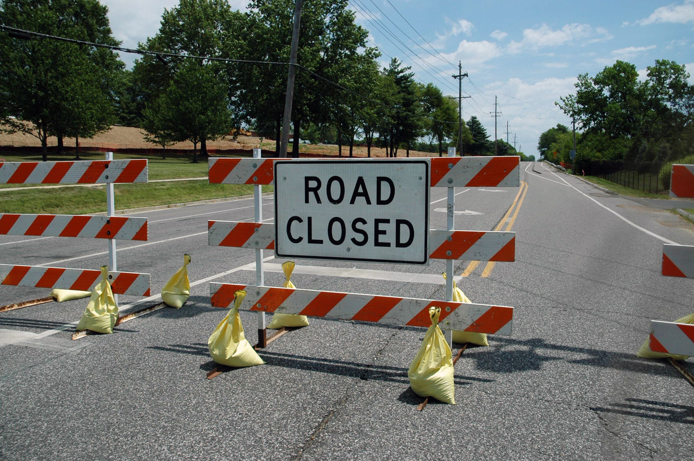 City Crews Closed Ladue Road on July 12 for emergency repairs.