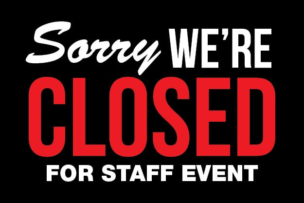 Closed for Event