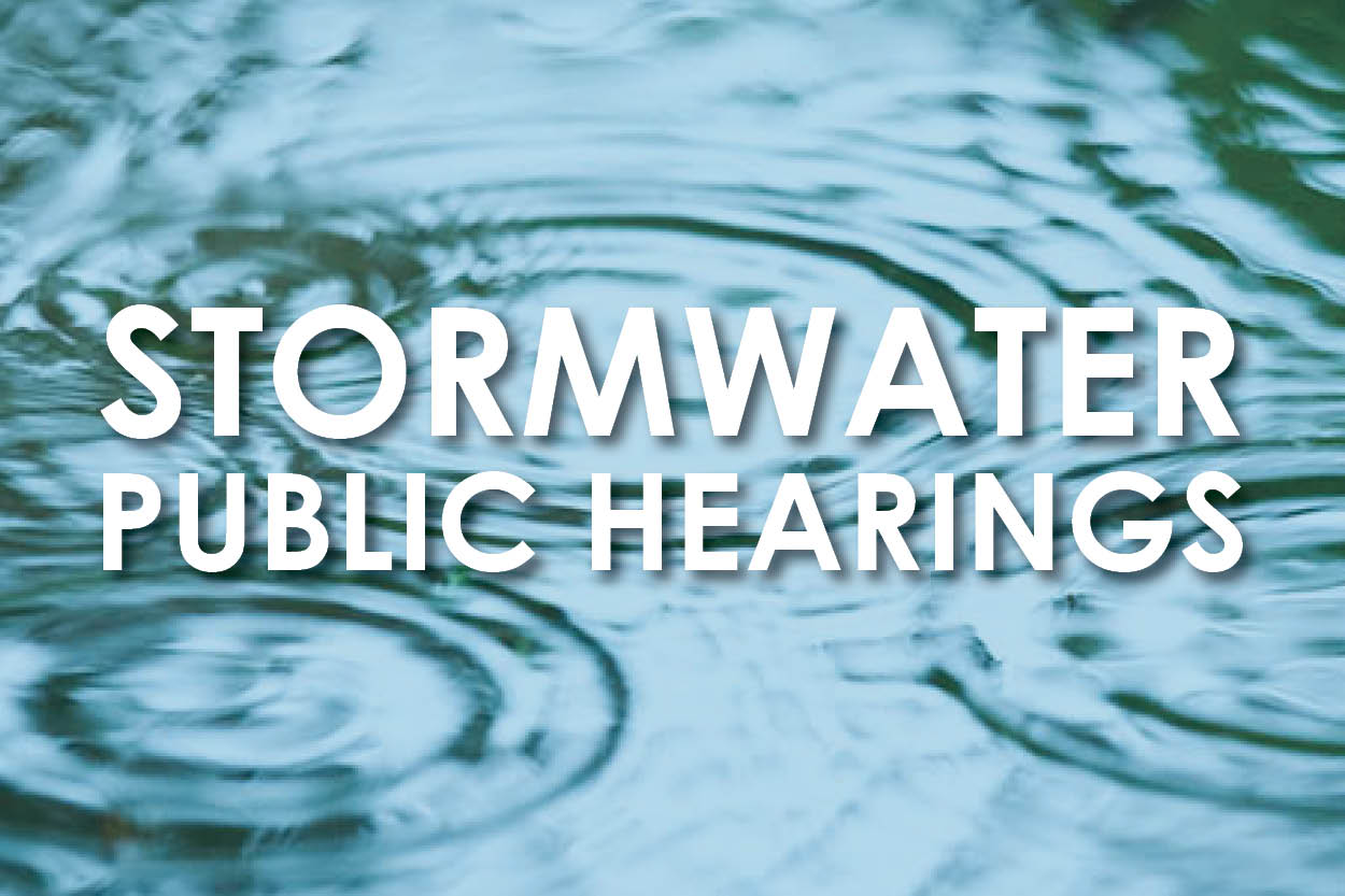 Stormwater Public Hearings