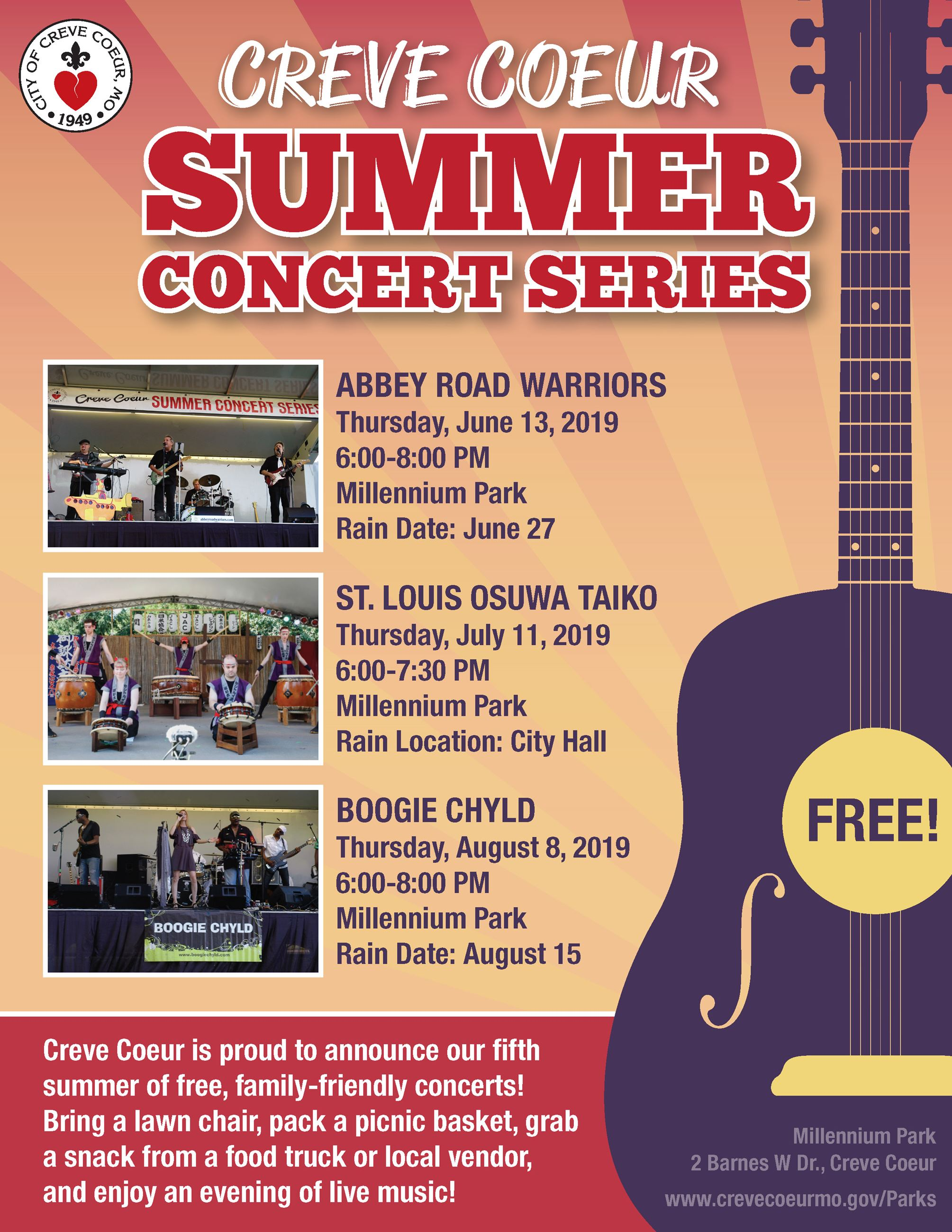 Summer Concert Series 2019 Flyer