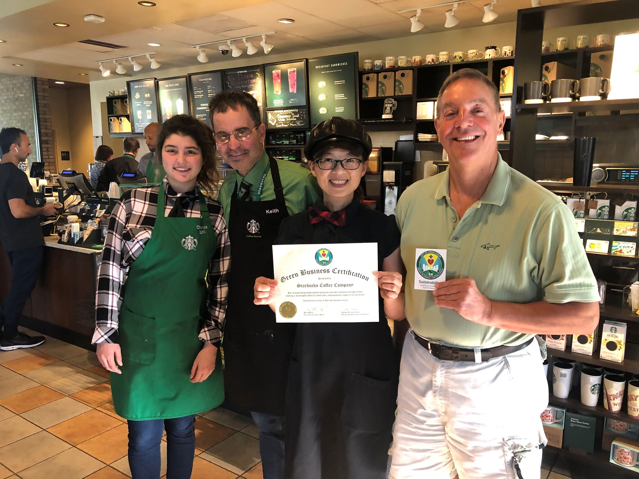 Starbucks receives Green Business Certificate