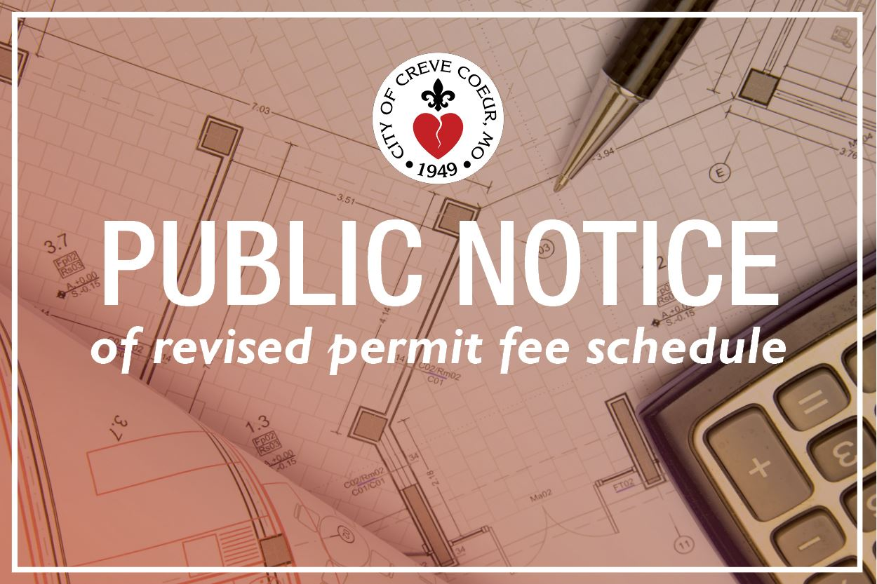 Public Notice - Revised Fee Schedule