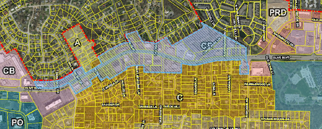 Proposed East Olive Overlay District Map