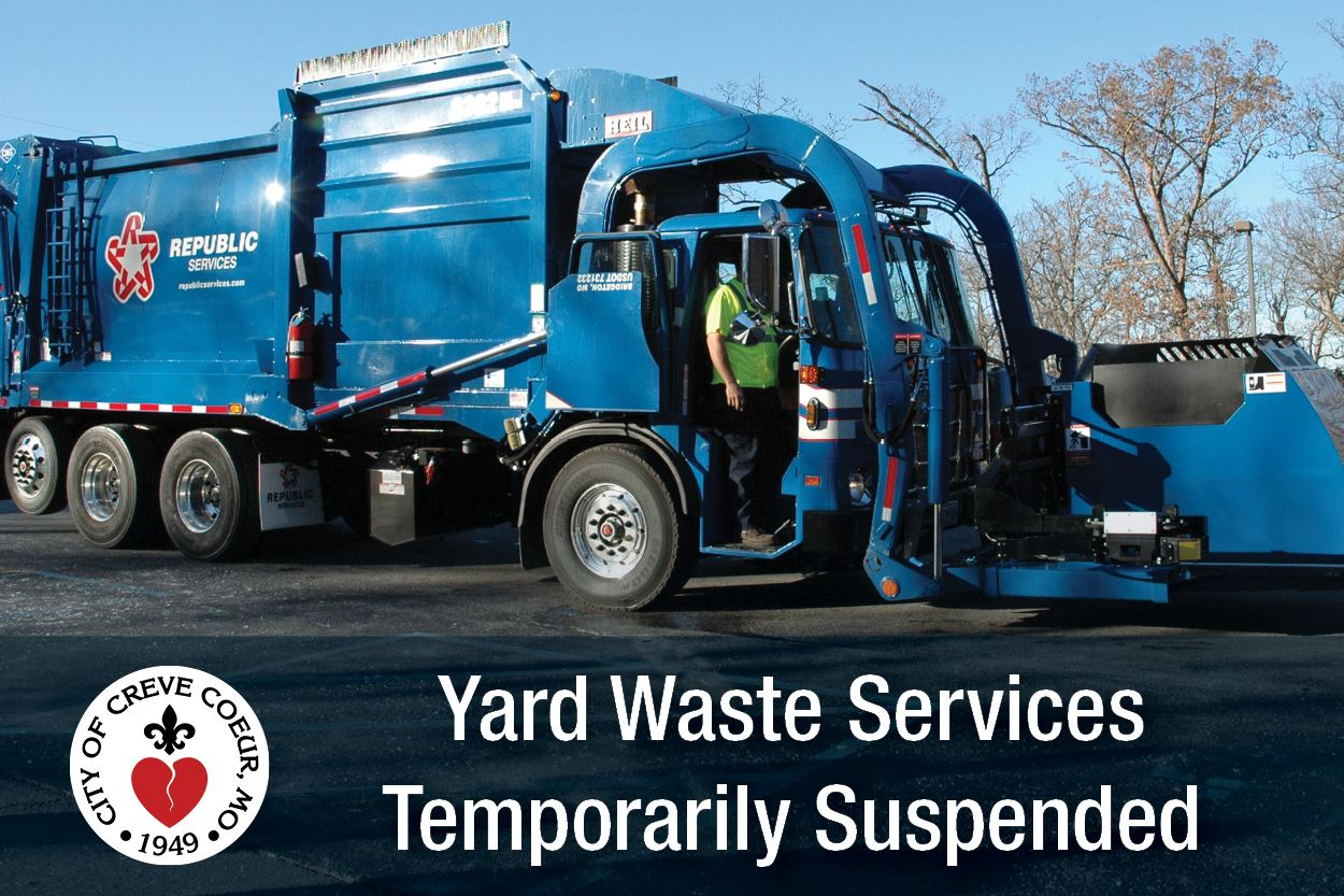 Yard Waste Services Temporarily Suspended