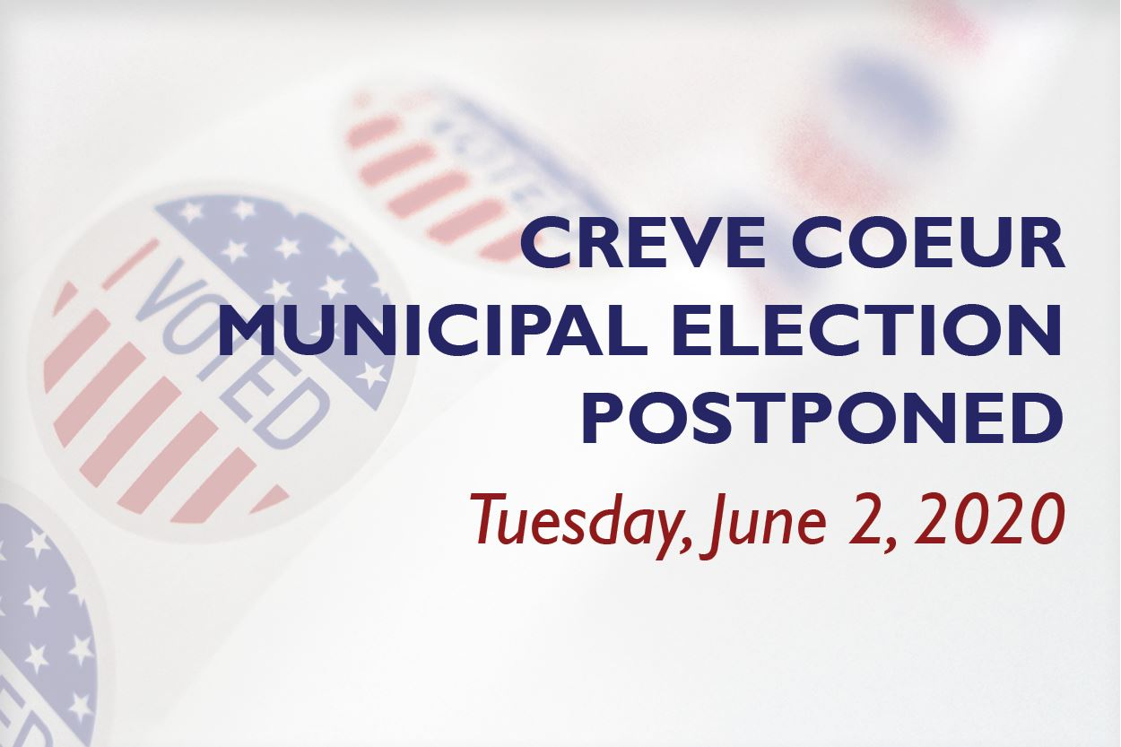 Municipal Election Postponed: June 2, 2020